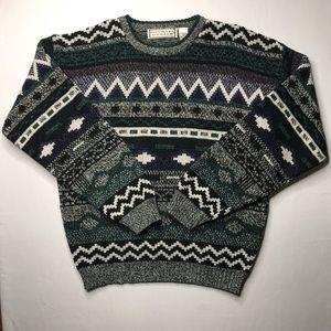 Vintage 90's Aztec print MICHAEL GERALD sweater